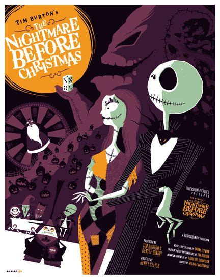 film disney jack art deco movie posters christmas art nightmare before