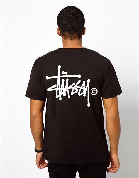 Tshirt Stussy 6 Lyst Stussy Basic T Sshirt With Logo Back Print In Black