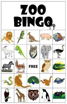 printable animal walk cards zoo bingo next time we go preschool pinterest