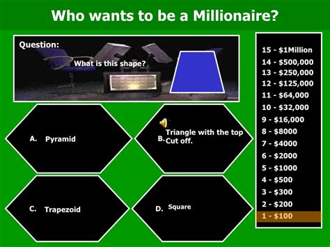 do you want to be a millionaire template images