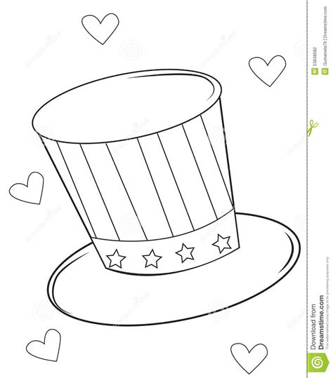 coloring pages magician hat magic hat coloring page stock illustration illustration