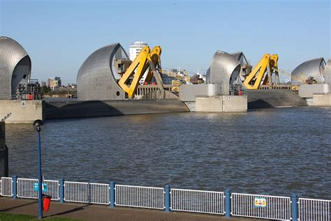 thames barrier park playground london flood alerts issued and thames barrier shut after
