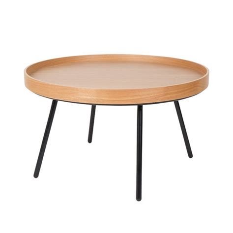 table basse ronde en ch 234 ne plateau amovible oak tray zuiver