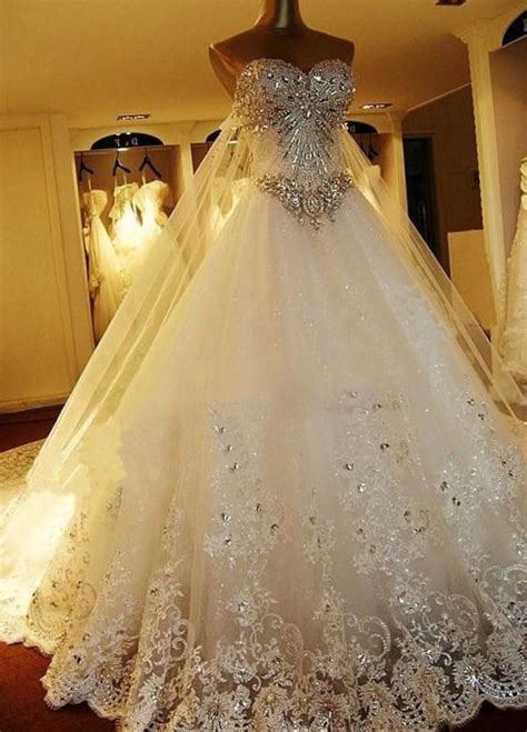 Big Wedding Dresses by Big Wedding Dresses With Diamonds Www Imgkid The