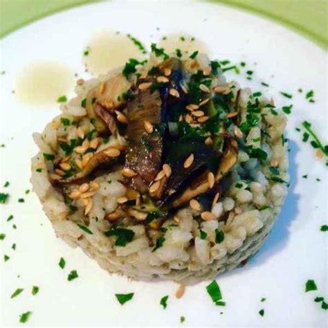 cucinare semi di lino ricette ricetta risotto ai cuori di carciofo e semi di