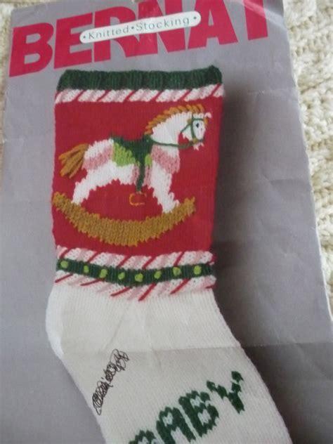 knitting patterns christmas stockings vintage vintage knit christmas santa stocking pattern copy rocking
