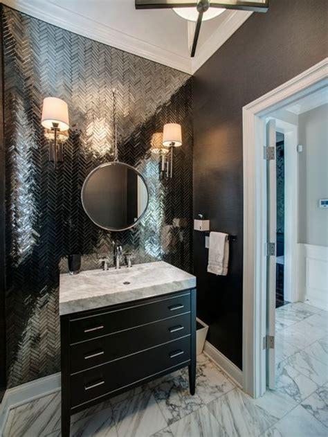Transitional Powder Room Design Ideas, Remodels & Photos