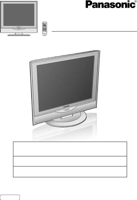 Panel Tv Panasonic panasonic flat panel television tc 17la1 user guide