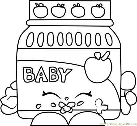 coloring pages of baby shopkins ga ga gourmet shopkins coloring page free shopkins