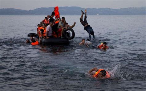 refugee boat names child drowns as refugee boat tries to reach greek shores