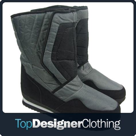 mens winter boots wide mens waterproof soles winter snow moon apres ski