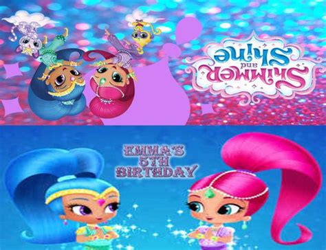 happy birthday to you shimmer and shine step into reading books shimmer and shine personalized treat toppers by