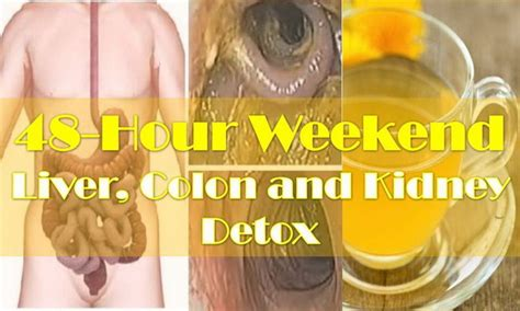 Liver And Kidney Detox Home Remedy by 48 Hour Weekend Liver Colon And Kidney Detox To Cleanse