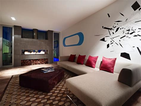 modern living rooms with fireplaces funky contemporary living room with fireplace hgtv