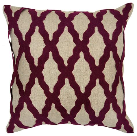 Burgundy Pillows Decorative by Intrigue Burgundy Applique Pillow Set Of 2 Modern