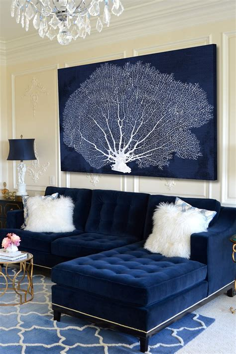 navy blue and white living room 25 stunning living rooms with blue velvet sofas blue
