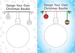 design your own template design your own bauble template free early years