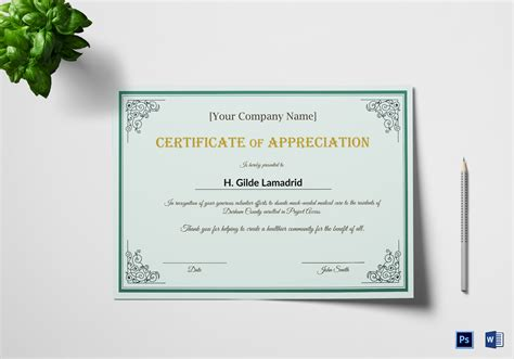 employee recognition card template company employee appreciation certificate design template