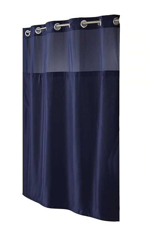 snap in shower curtain liner hookless shower curtain with snap in liner sheer window