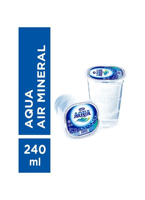 Gelas Cup Prima Ukuran 14oz Tutup aqua air mineral prima cup 240ml klikindomaret