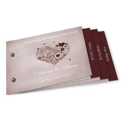 Hochzeitseinladung Booklet Selbst Gestalten by Booklet Viliana Und Steven Cari 241 Okarten