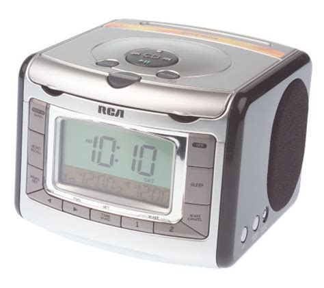 rca stereo clock radio w cd player automatic time set qvc