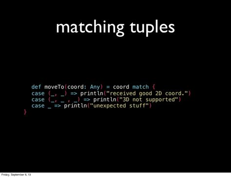 scala pattern matching try intro to pattern matching in scala