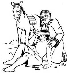 the samaritan coloring page in year one we learn and january 2012