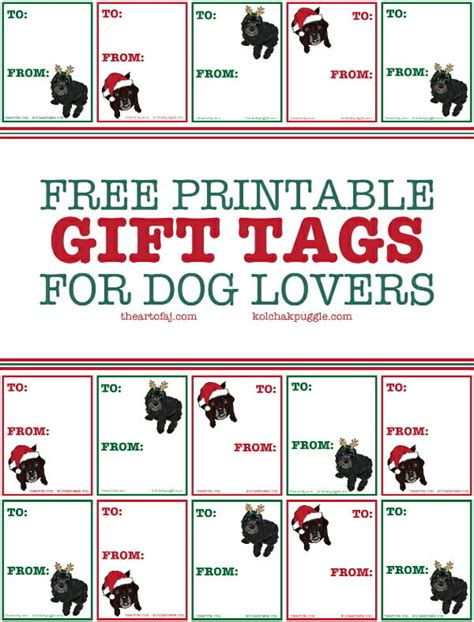 printable dog gift tags printable koly fe gift tags kol s notes