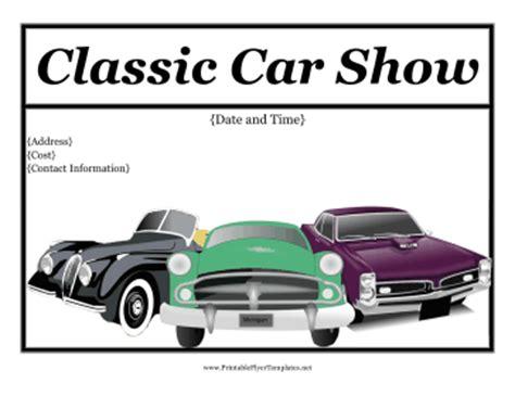 Car Show Flyer Free Car Show Flyer Template