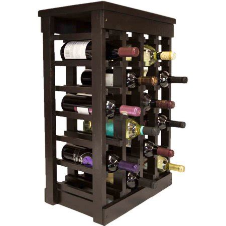 Wine Rack Walmart by El Mar Furnishings 24 Bottle Classic Wood Wine Rack Walmart