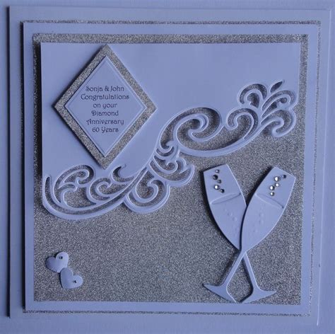 Handmade Silver Wedding Anniversary Cards For Husband - the 25 best wedding cards handmade ideas on