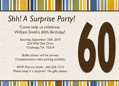 surprise party invite template diabetesmang info