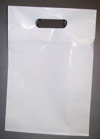 Polybag 12 X 15 s2015 12 quot x 15 quot x 00175 white handle cut poly bags w 3