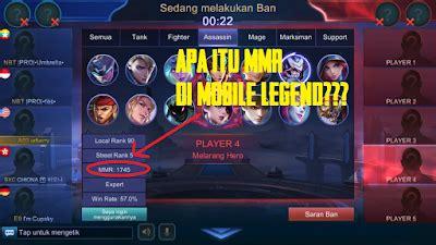 mmr mobile legend   menghitungnya seputar