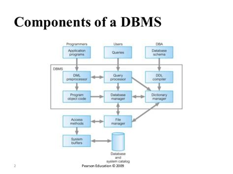 data base management system database management systems components