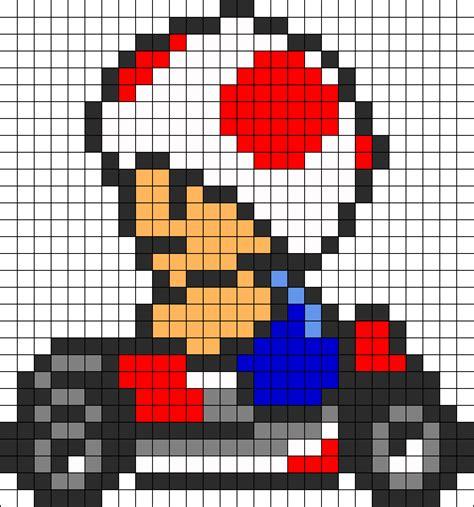 mario perler bead pattern mario kart toad perler bead pattern bead sprites