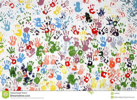 Colorful Hand Prints Stock Images Image 459064 Colorful Prints