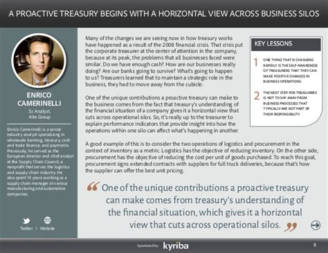 Ford Treasury Mba by Taking Treasury From Reactive To Proactive