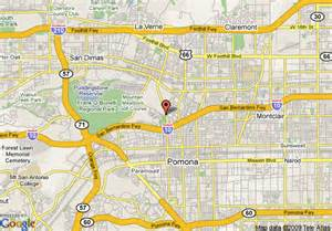 map pomona california map of sheraton suites fairplex pomona