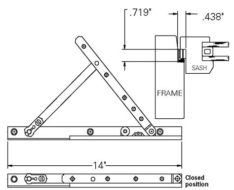 awning window parts replacement truth awning window hinge pair 14 quot steel track biltbest window parts
