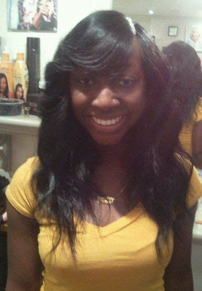 invisible parting weave hairstyles gallery sew in invisible part weave black hairstle picture