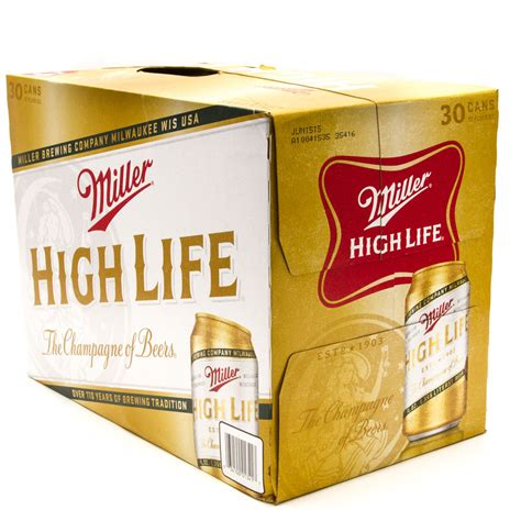 Miller High Lite by Miller High 12oz Can 30 Pack Wine And