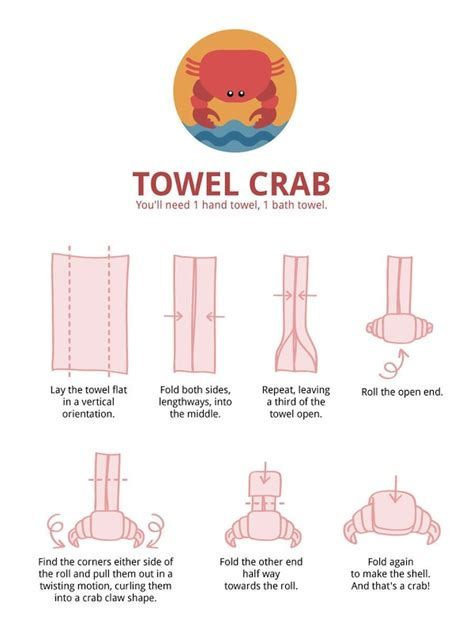 How To Make Towel Origami - towel folding infographics fold towels towels and how