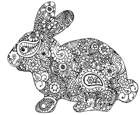 coloring pages for adults bunny ausmalen erwachsene ostern osterkaninchen 5
