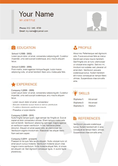 Three Column Resume Template by 3 Column Resume Resume Ideas