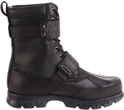 polo ralph mens varick hiking boot in black for