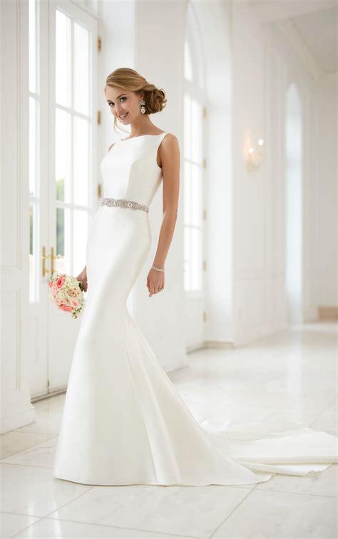 wedding dresses simple structured wedding gown stella york