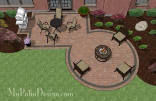 Patio Layouts And Designs Rectangle Patio Design With Circle Pit Area Mypatiodesign Pits