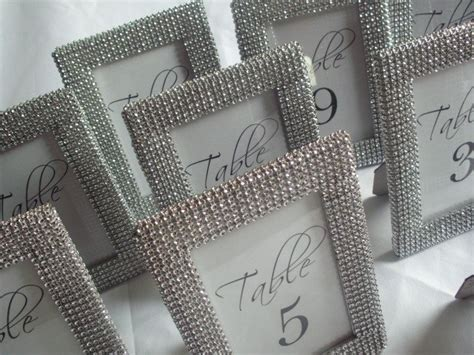silver frames for wedding table numbers set of 20 silver bling 4x6 frames table number frames